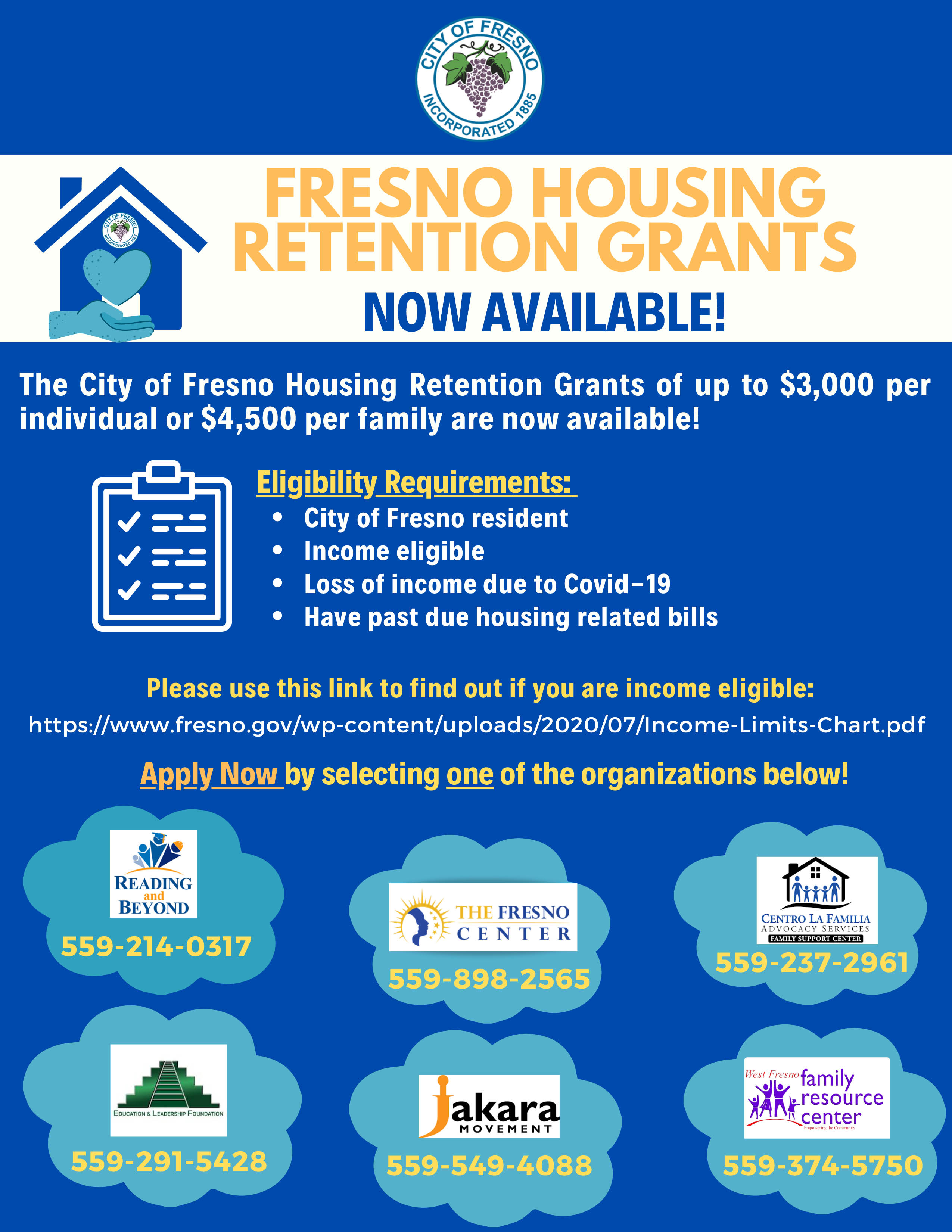 English Housing Retention Program Now available